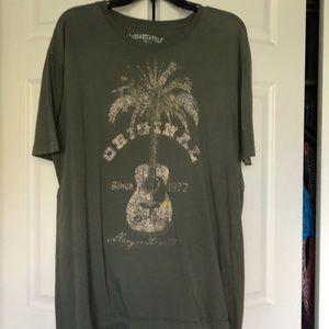 Margaritaville men's tee shirt in Khaki green